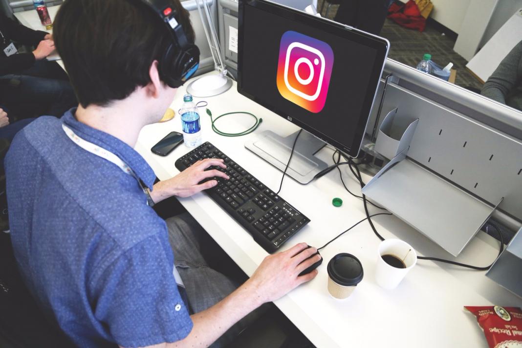 post on instagram on desktop