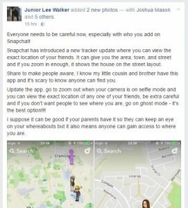 snap map warning
